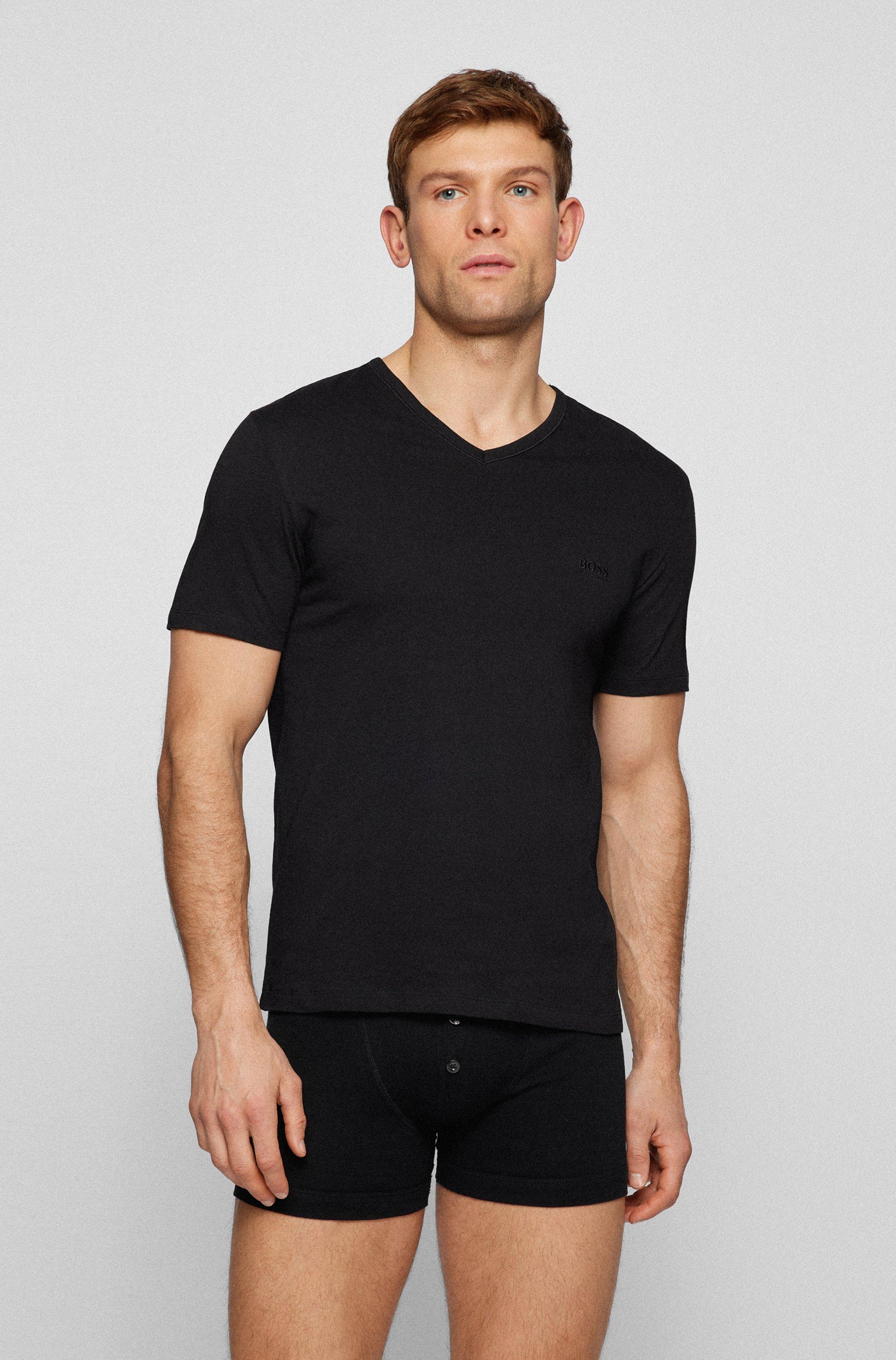 Three-pack of V-neck underwear T-shirts in cotton
