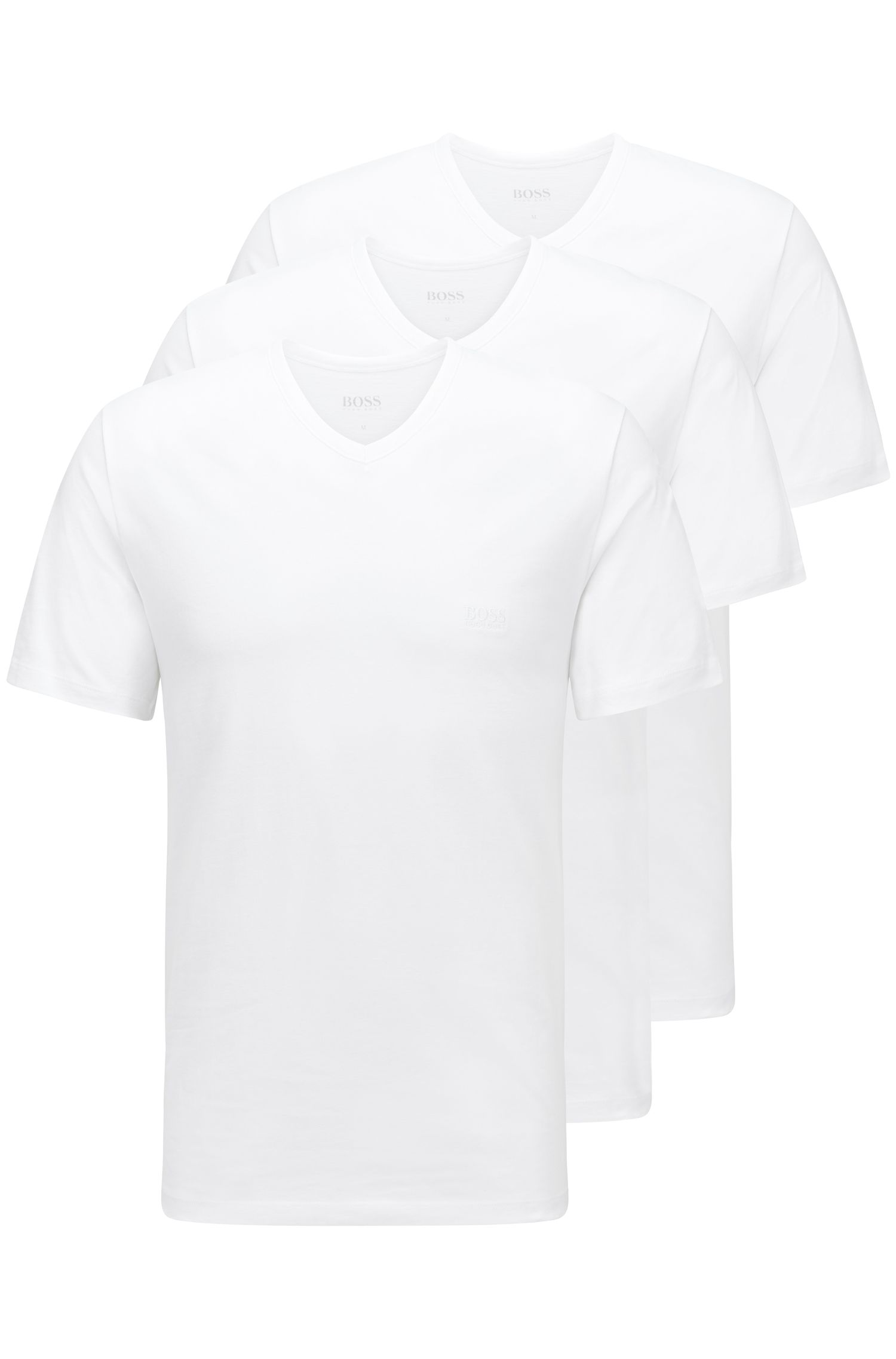 Triple pack of regular-fit cotton T-shirts , White