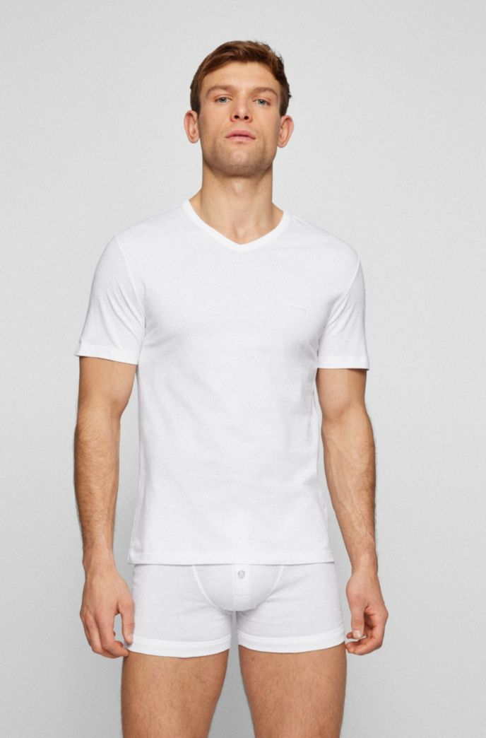 Three-pack of V-neck underwear T-shirts in cotton