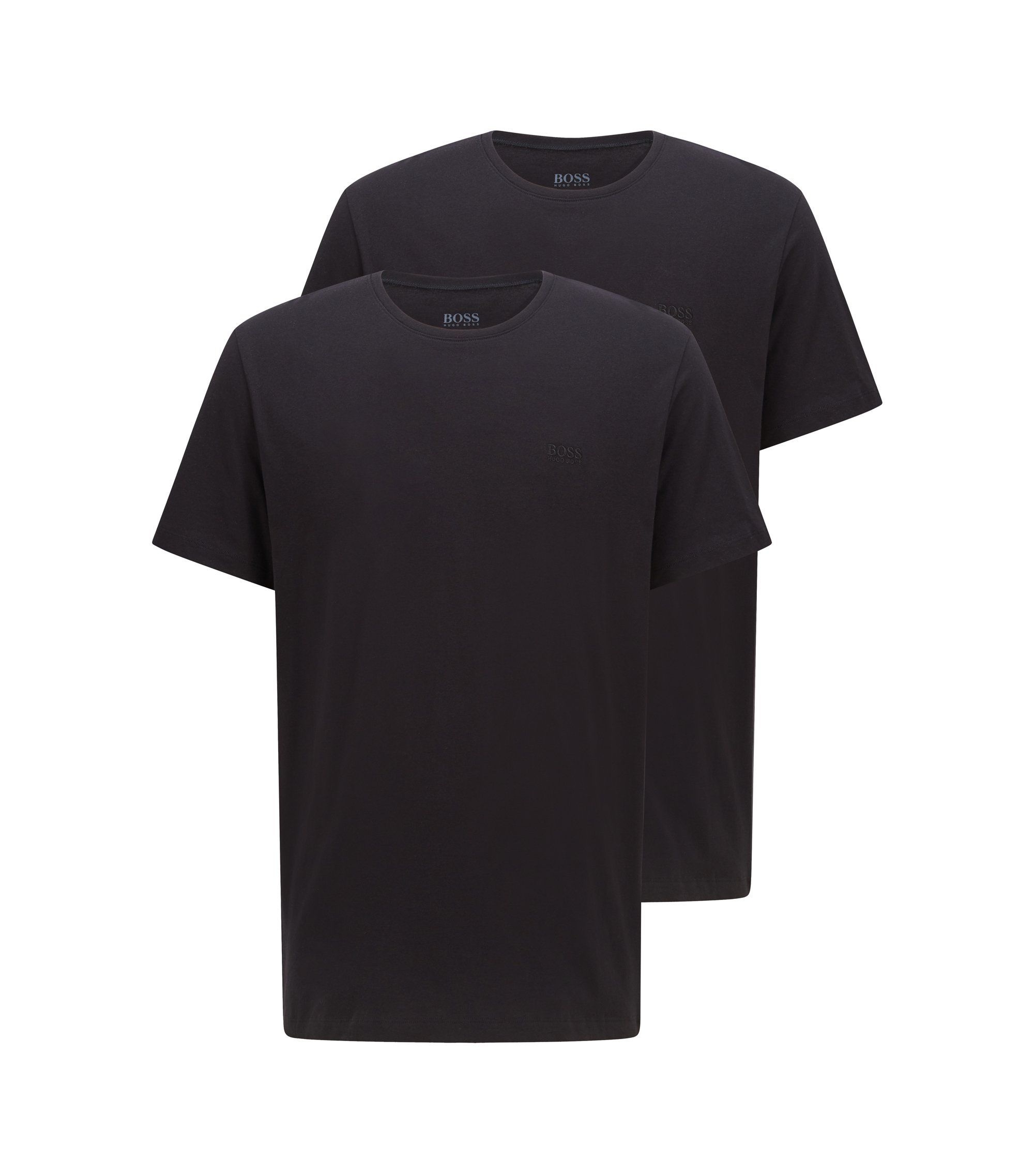 Two-pack of relaxed-fit T-shirts in cotton, Black
