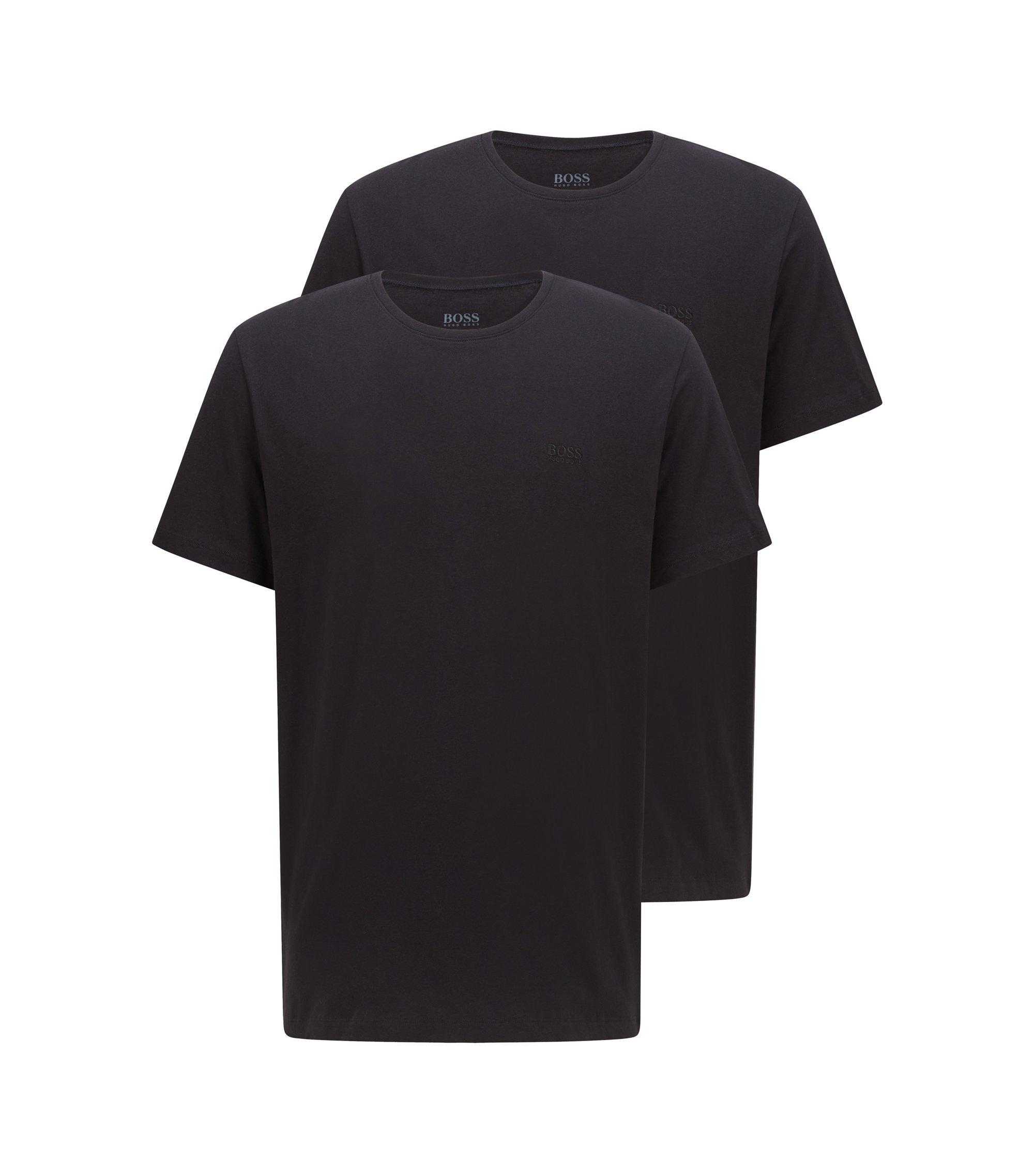 Lot de deux t-shirts à coupe relax en pur coton, Noir