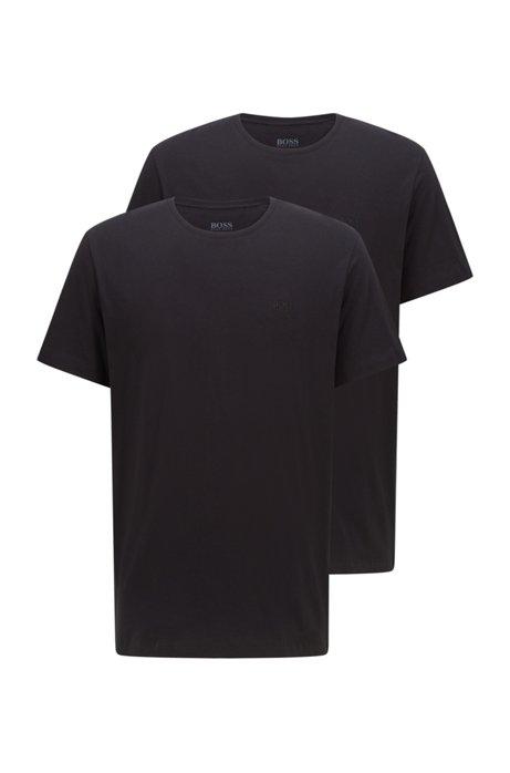 Two-pack of underwear T-shirts in pure cotton, Black