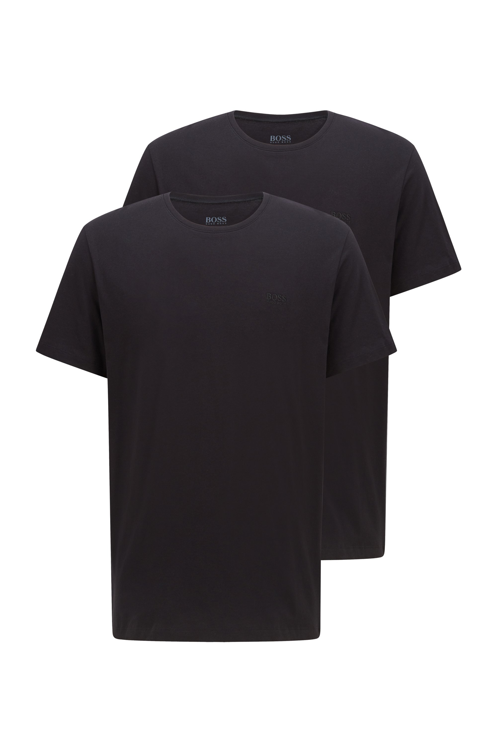 Zweier-Pack T-Shirts aus Baumwolle, Schwarz