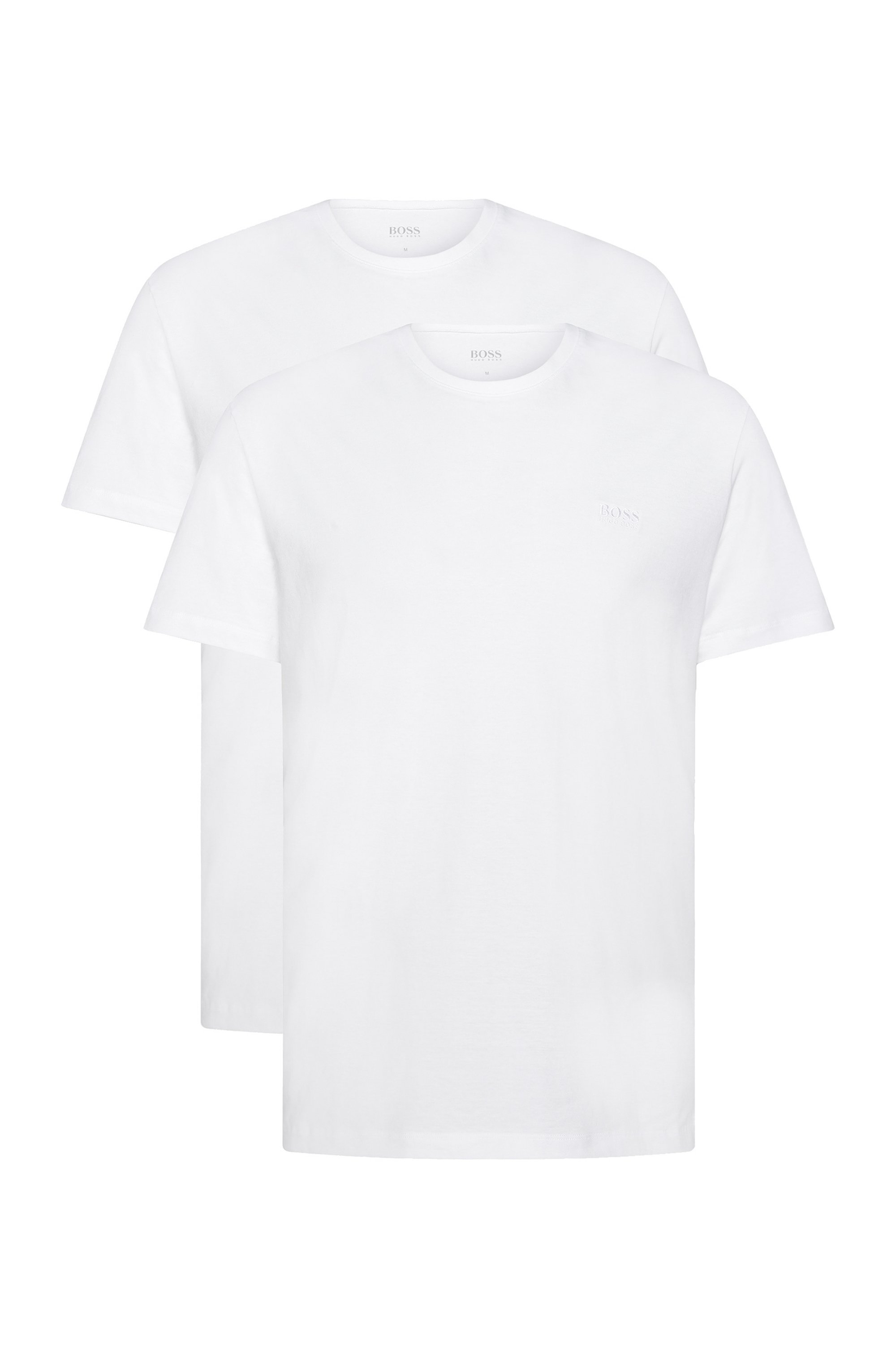 Two-pack of underwear T-shirts in cotton, White