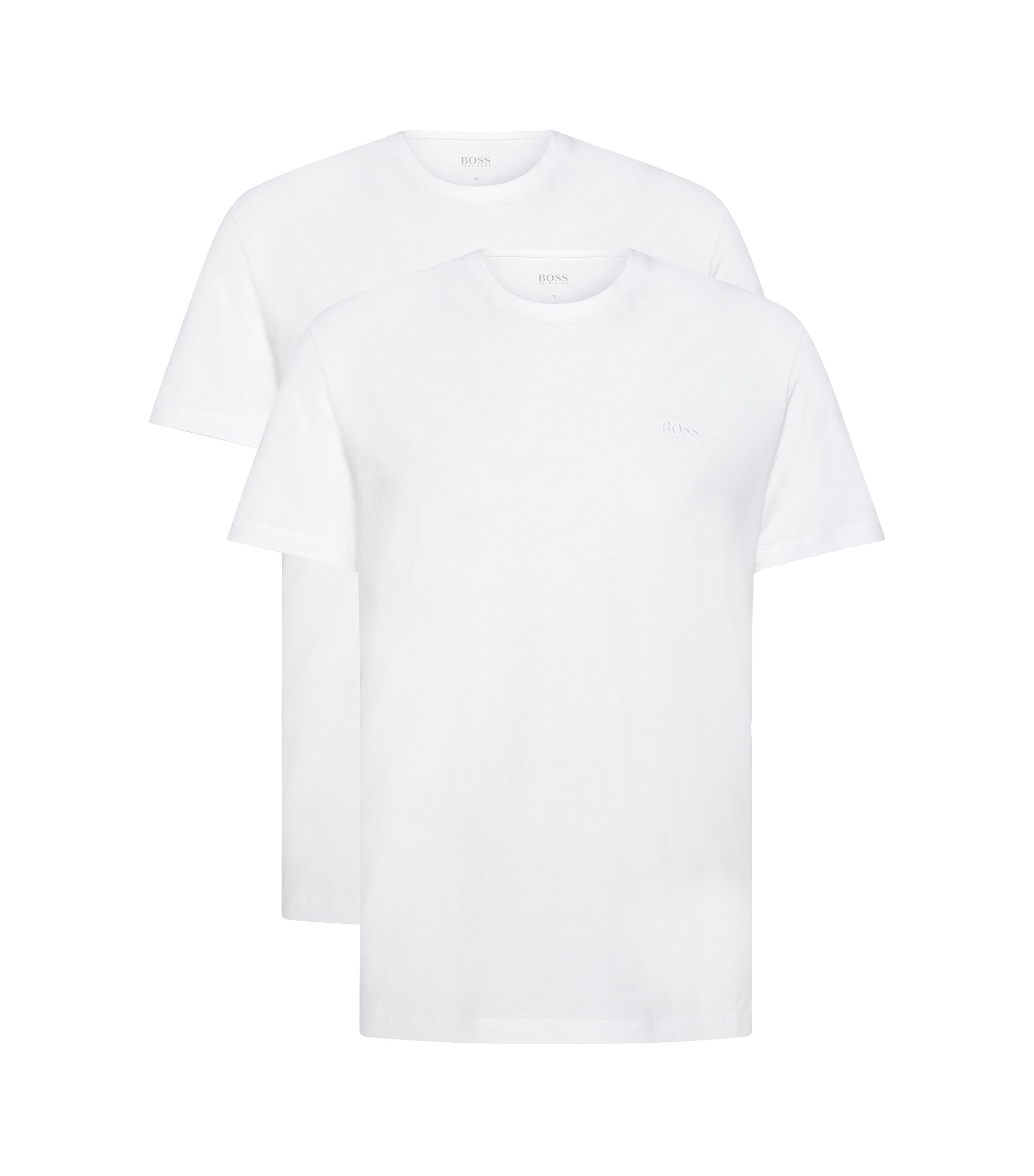 Two-pack of relaxed-fit T-shirts in cotton, White