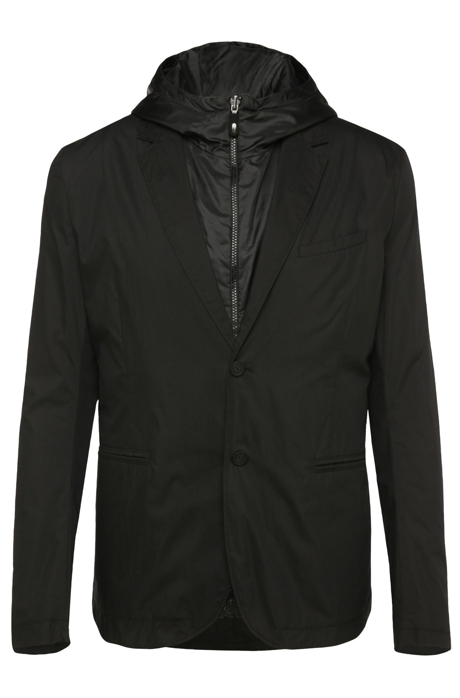 Regular-fit jacket in cotton blend with integrated waistcoat: 'Awond'
