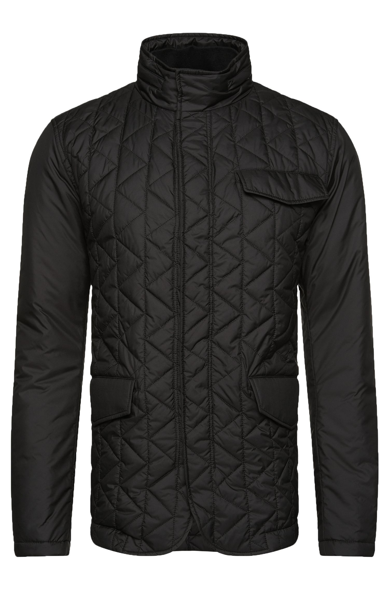 Quilted jacket with integrated hood: 'Cadell'