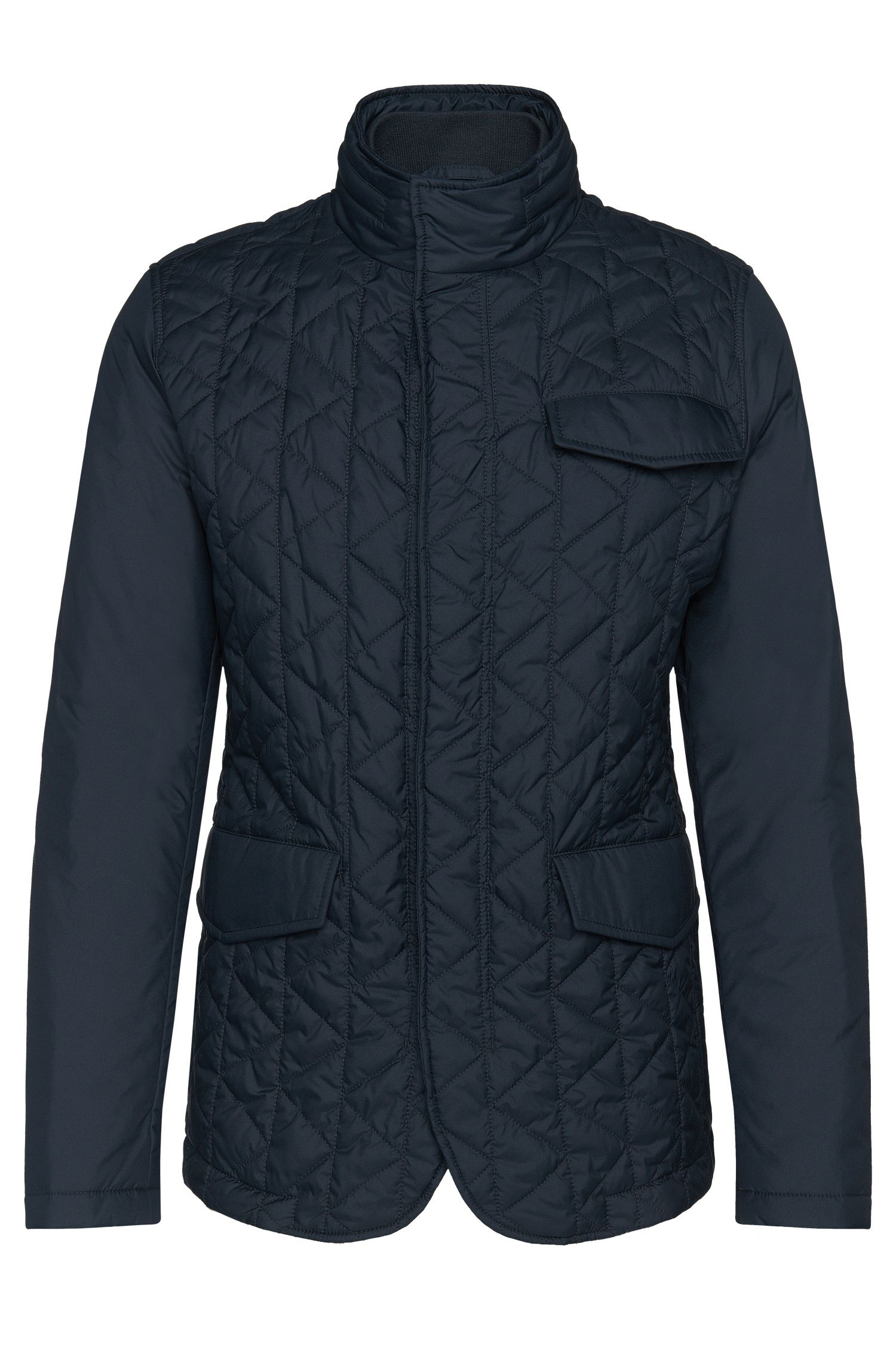 Gewatteerde jas met geïntegreerde capuchon: 'Cadell'