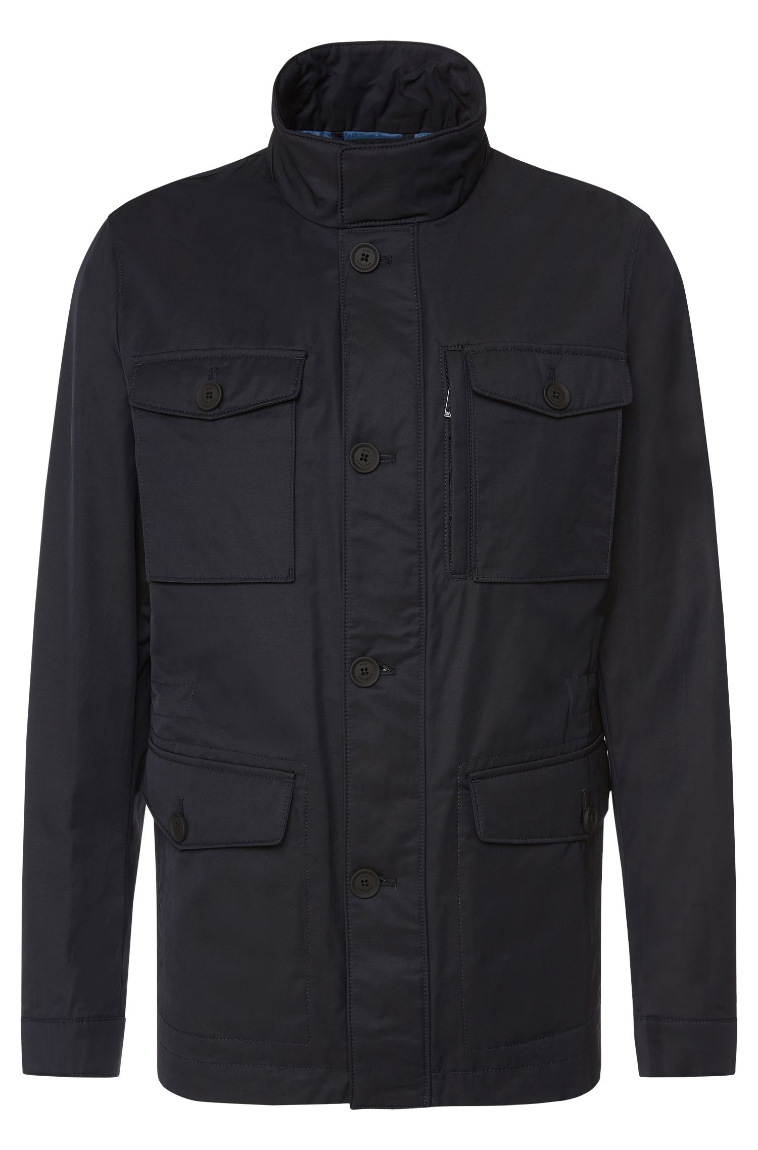 Water-repellent jacket in cotton blend: 'Calvary'