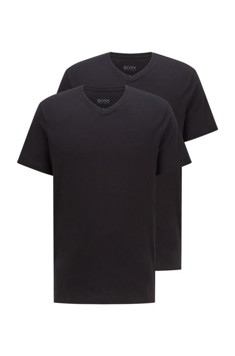 Two-pack of relaxed-fit underwear T-shirts in cotton, Black