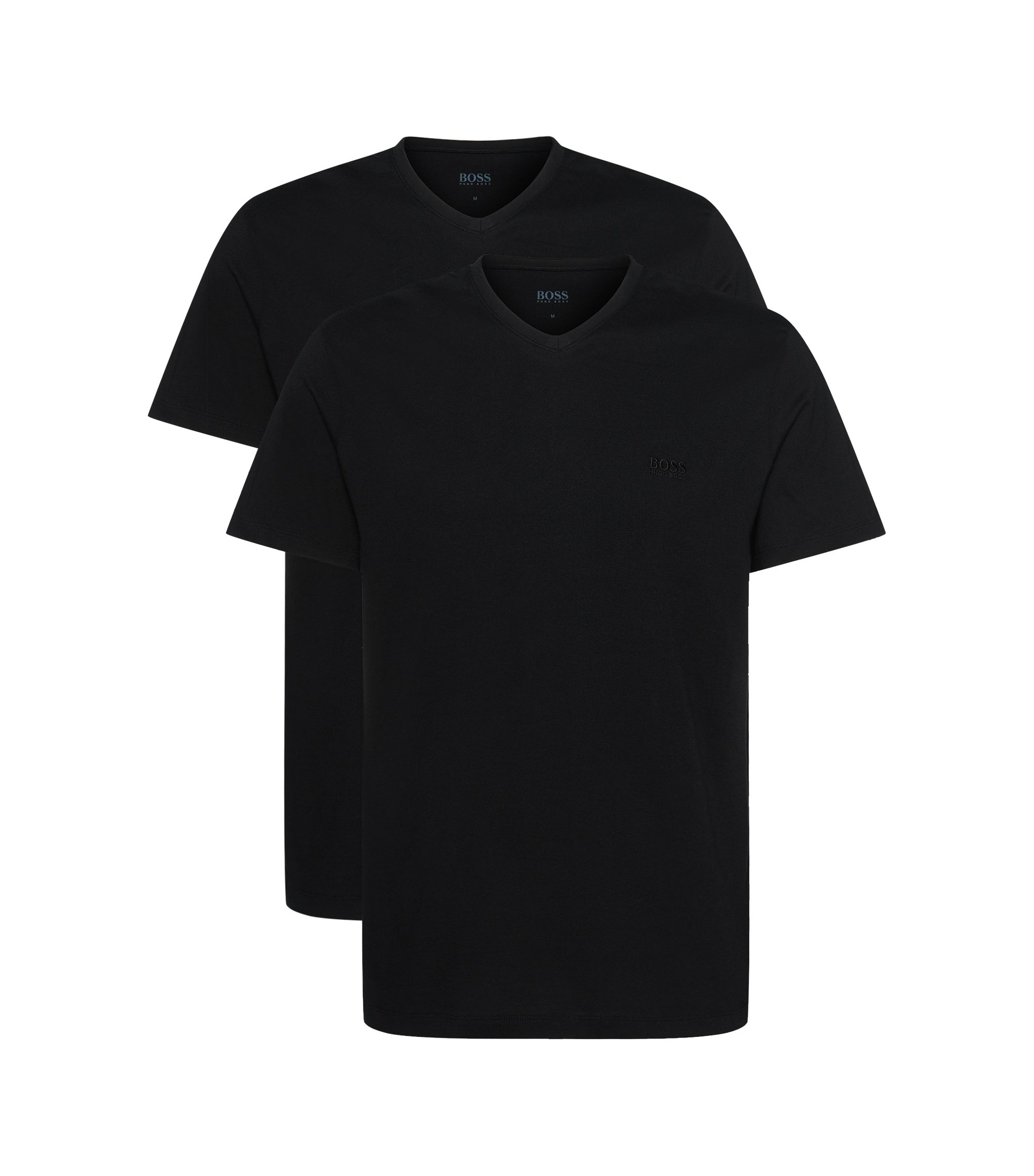 Lot de deux t-shirts Relaxed Fit en coton, Noir