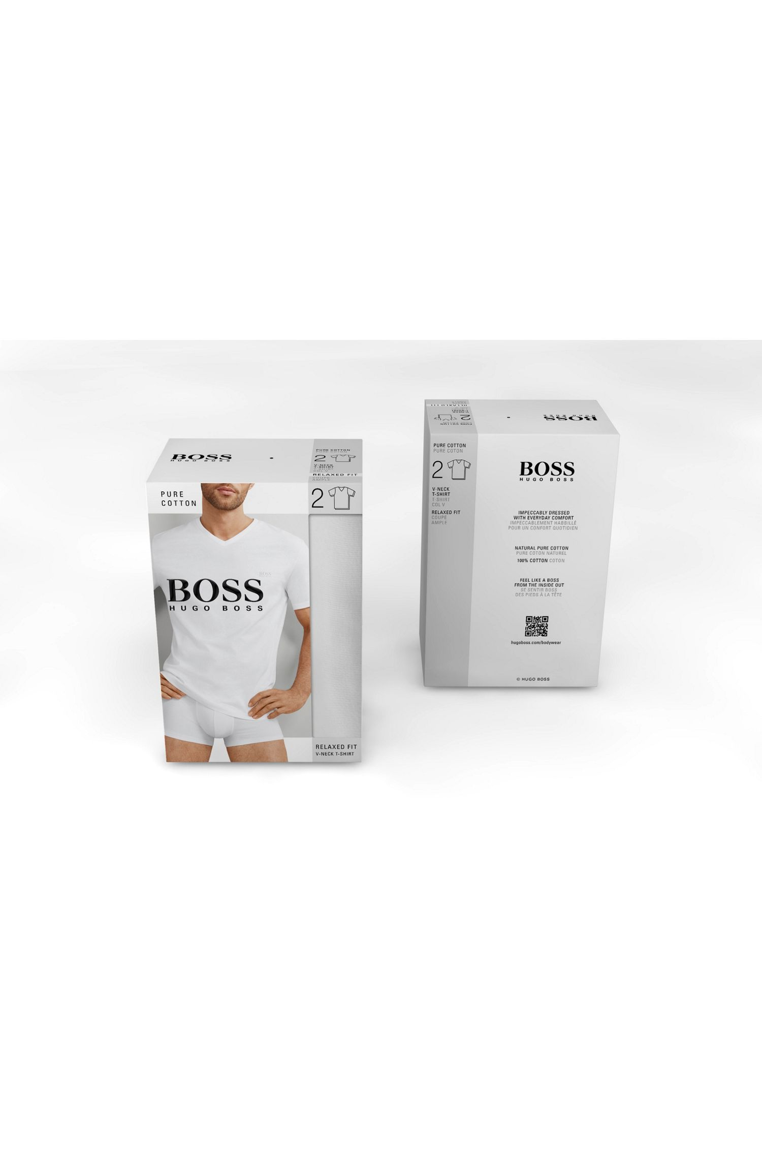 Double pack of relaxed-fit cotton T-shirts