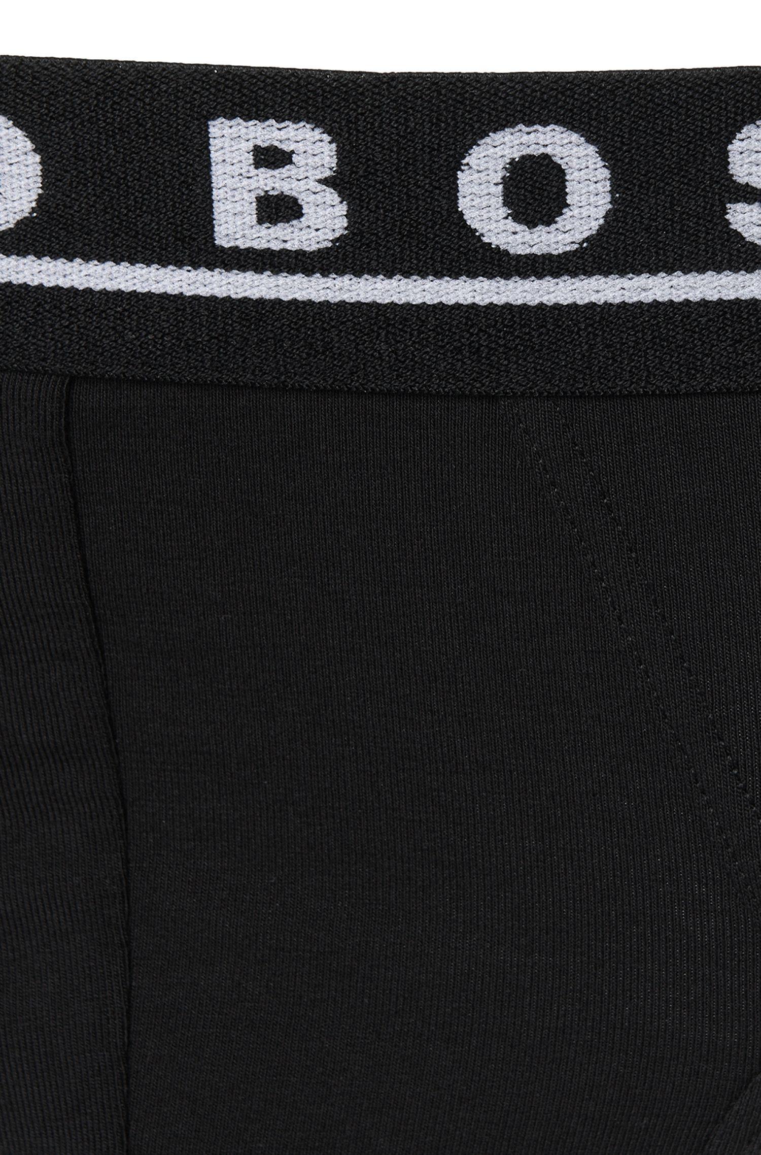 Slips aus Stretch-Baumwolle im Dreier-Pack , Schwarz