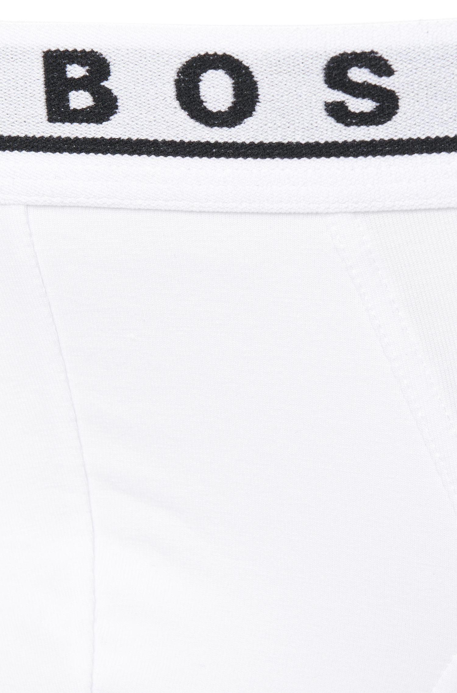 Triple pack of briefs in stretch cotton