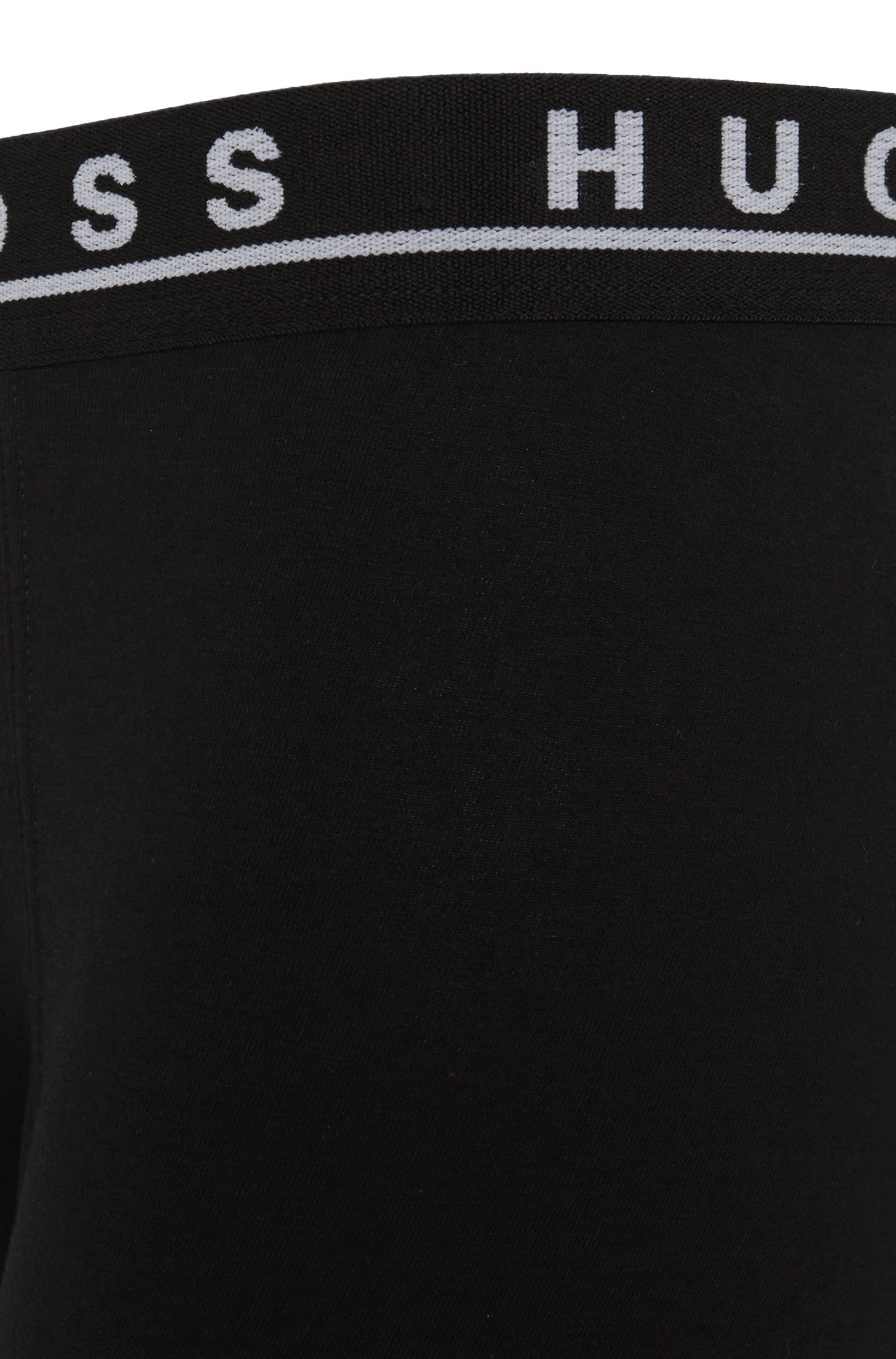 Triple pack of boxer briefs in stretch cotton , Black