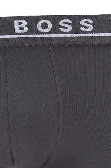 三条装弹力棉平角内裤,  487_淡蓝色