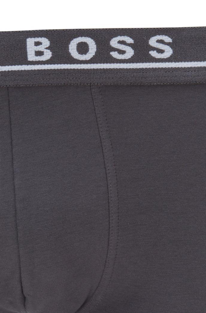 Lot de trois boxers en coton stretch ornés du logo à la taille
