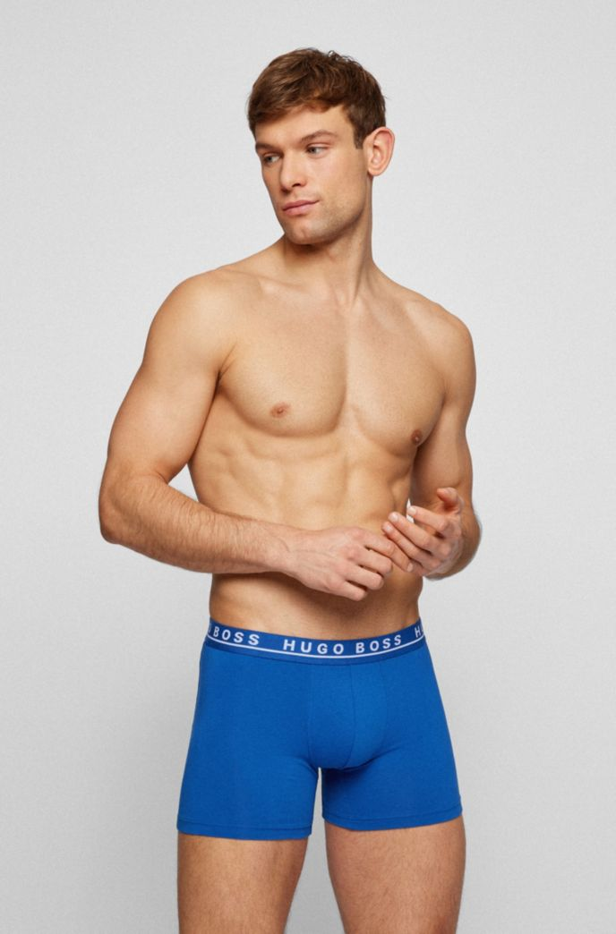 Three-pack of logo boxer briefs in stretch cotton