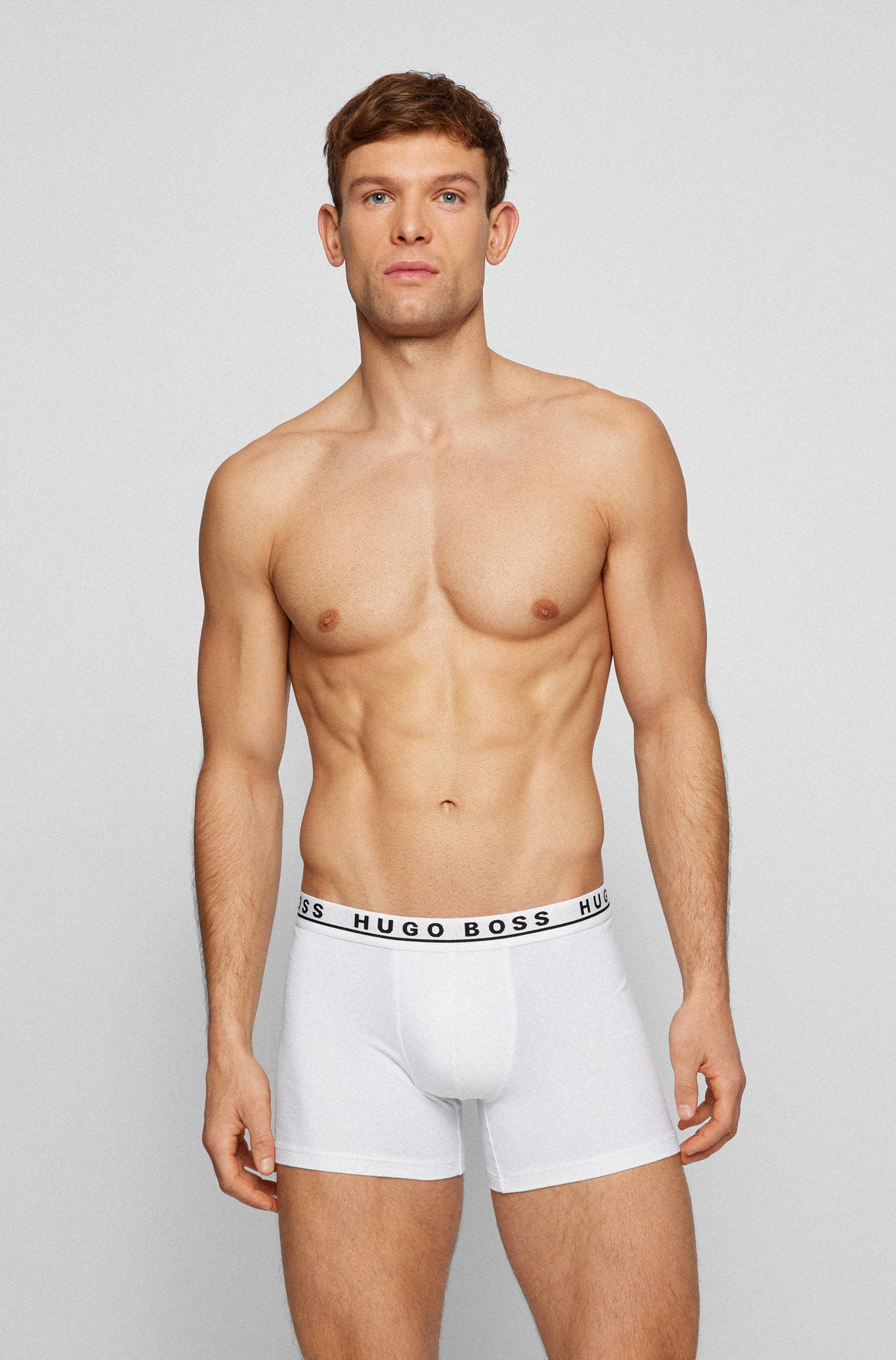 Three-pack of stretch-cotton boxer briefs