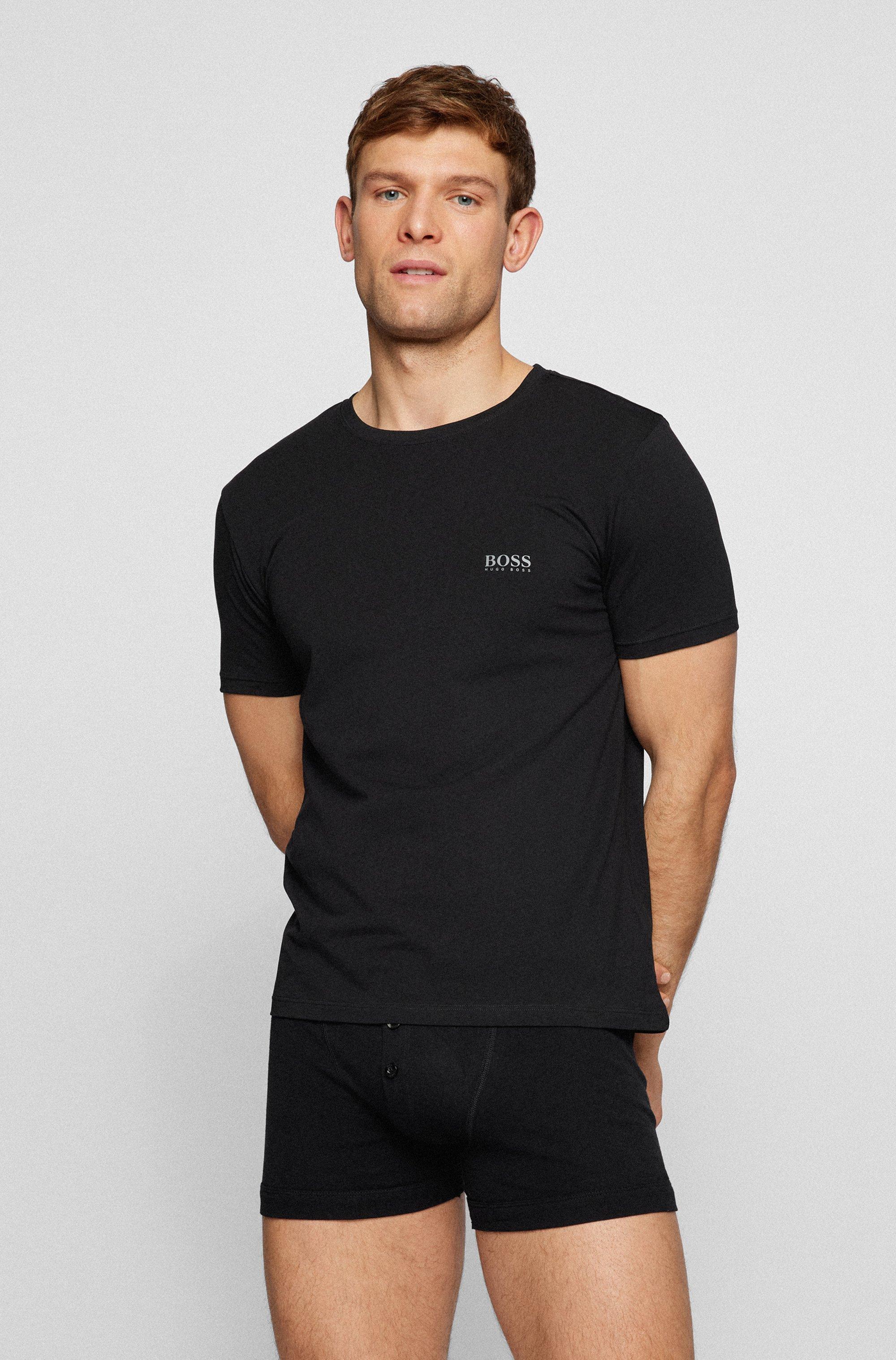 Set van twee underwear-T-shirts met logo op de borst
