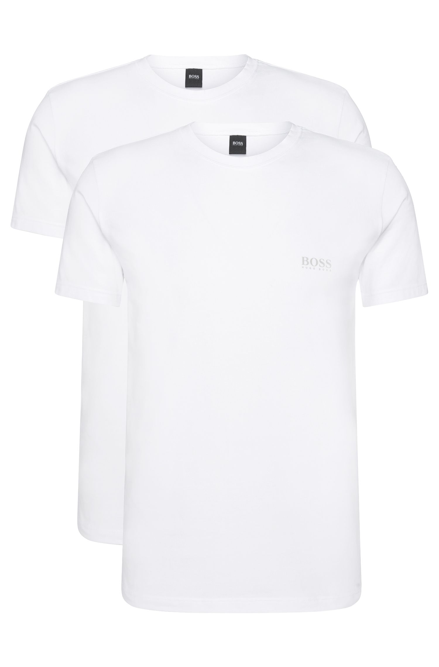 Double pack of regular-fit T-shirts in stretch cotton