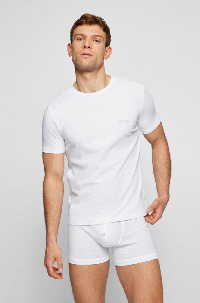 Zweier-Pack T-Shirts mit Logo auf der Brust