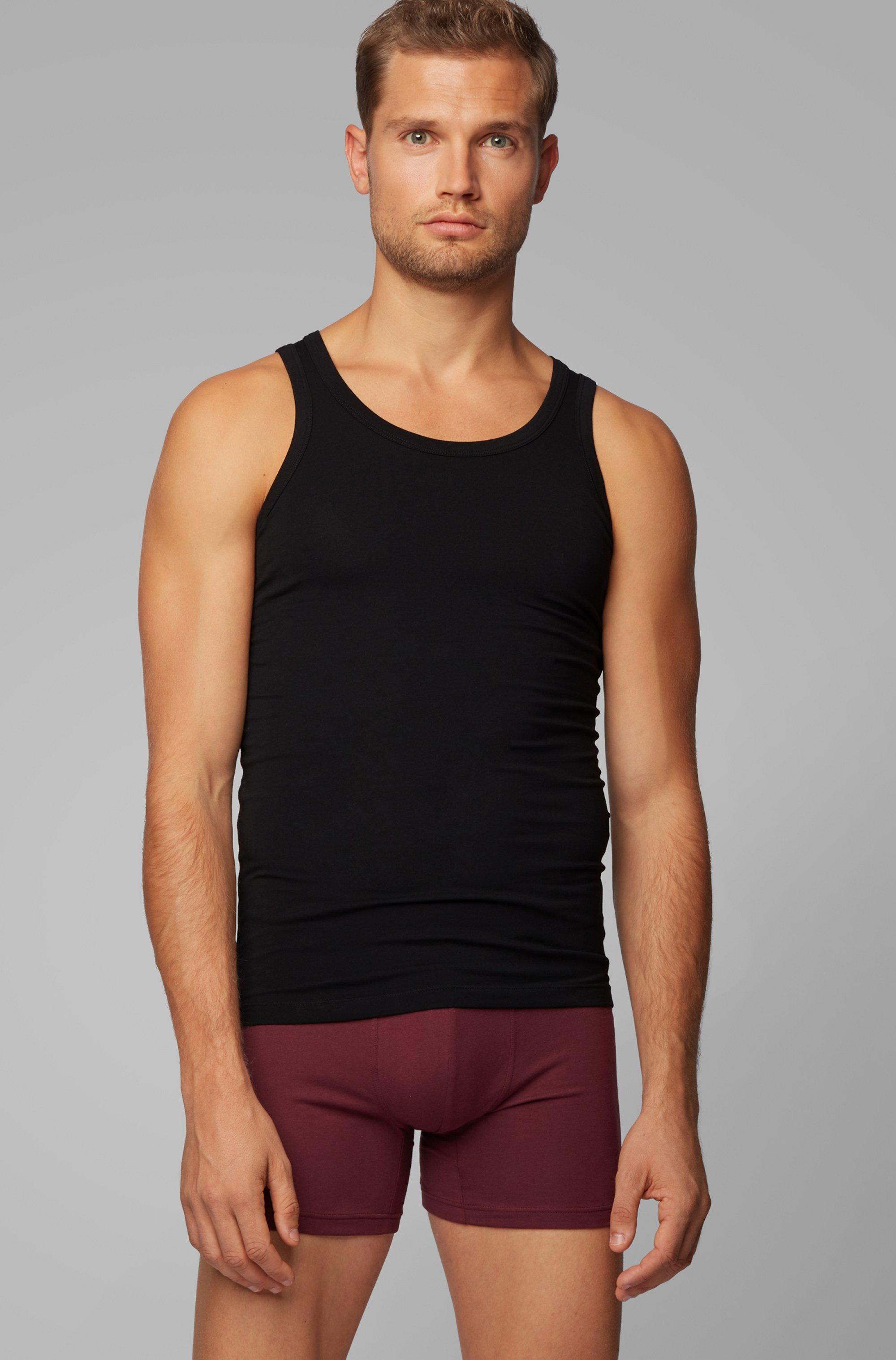 Two-pack of slim-fit underwear vests