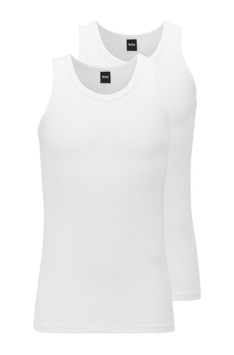 Two-pack of slim-fit underwear vests , White