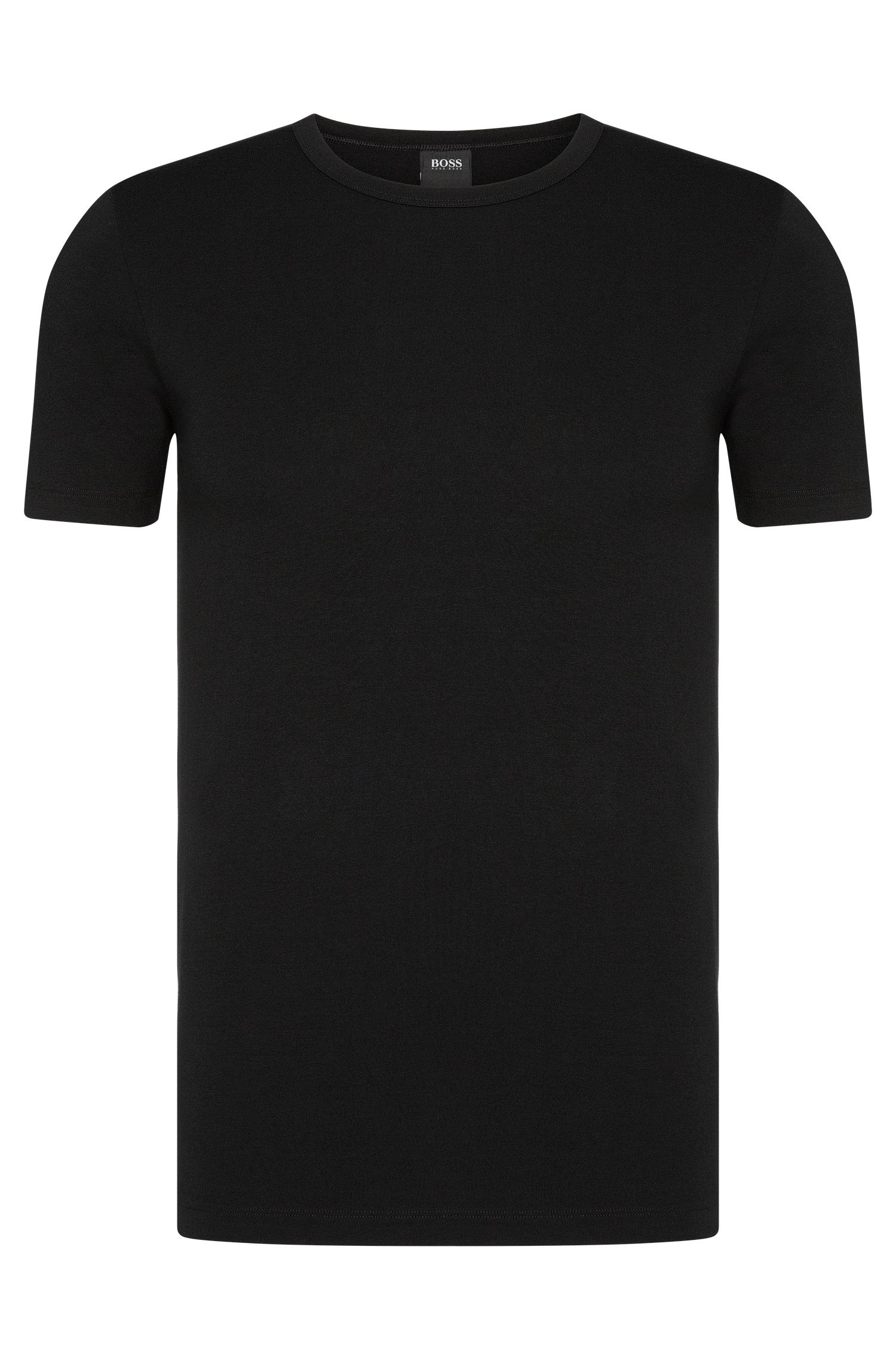 Slim-Fit T-Shirts aus Stretch-Baumwolle im Zweier-Pack