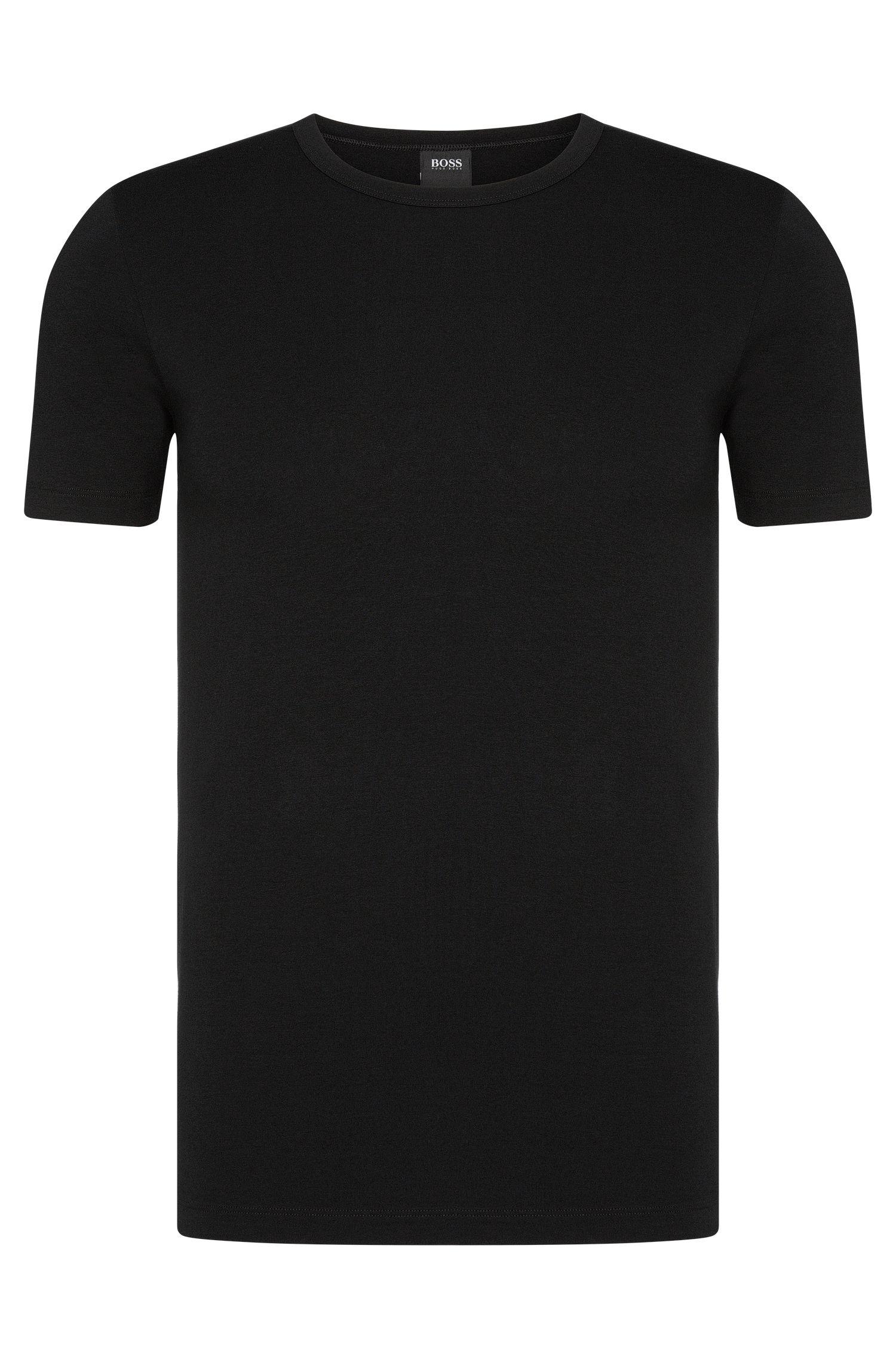 Set van twee slim-fit T-shirts van stretchkatoen