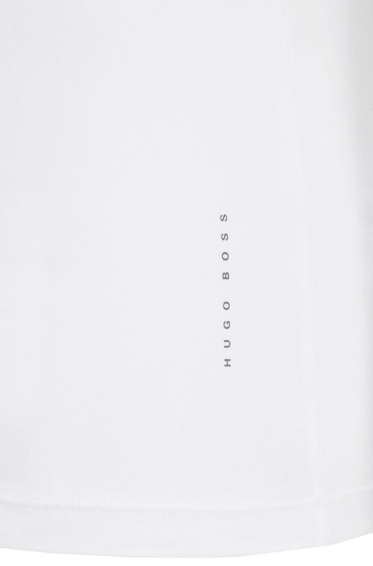 Set van twee slim-fit T-shirts van stretchkatoen , Wit