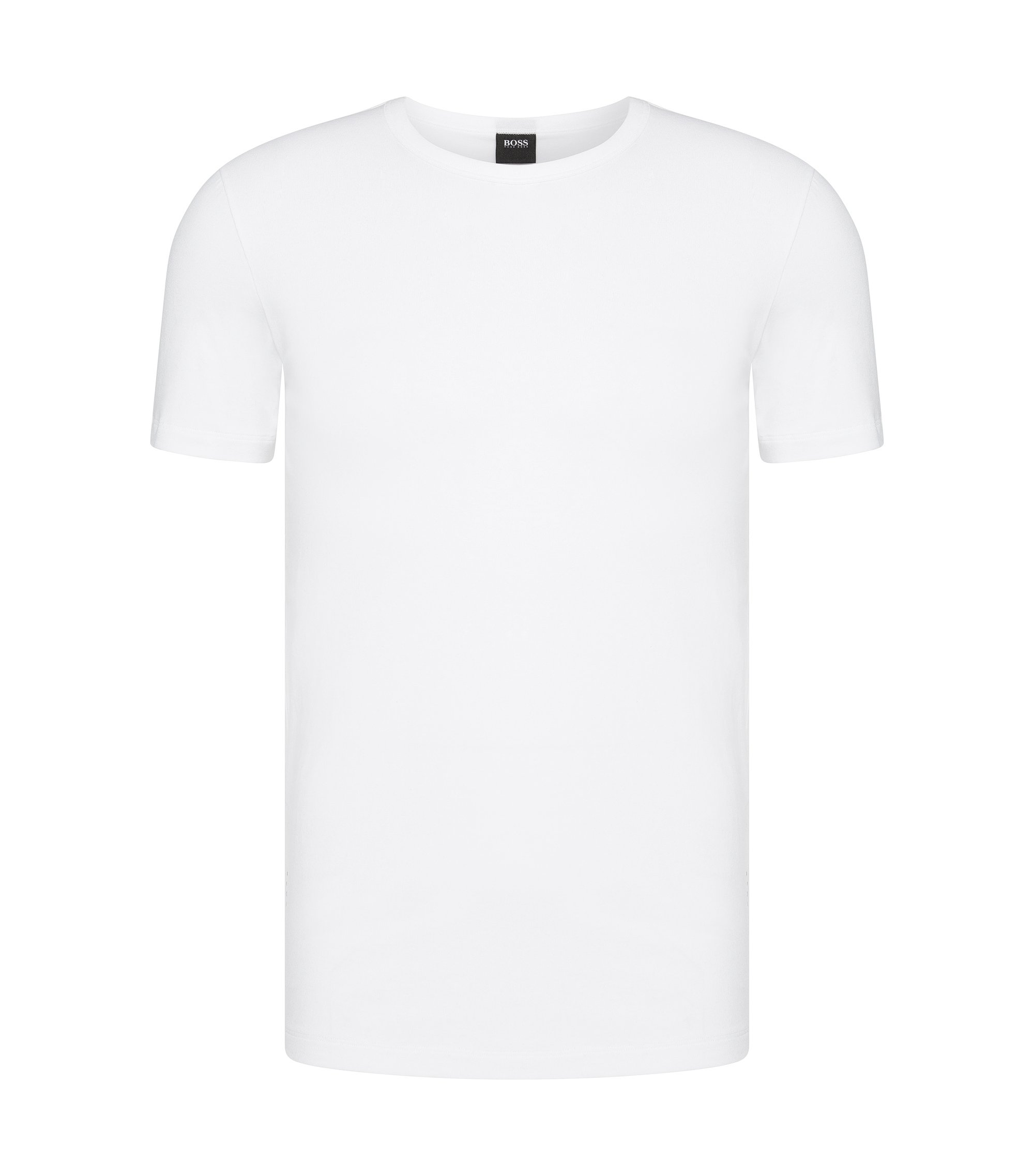 T-shirt Slim Fit en coton stretch en lot de deux, Blanc