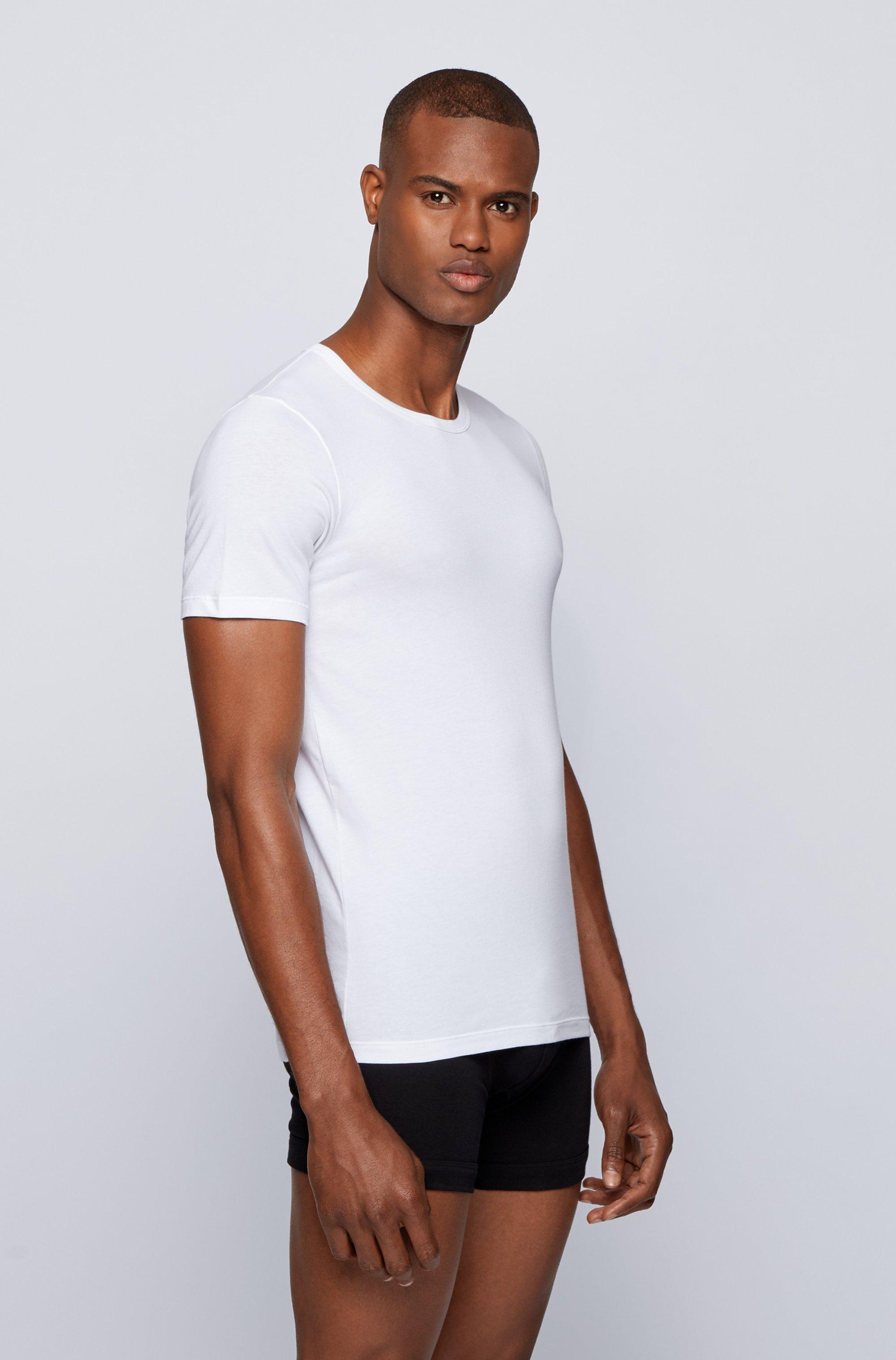 Slim-fit underwear T-shirt with vertical logo