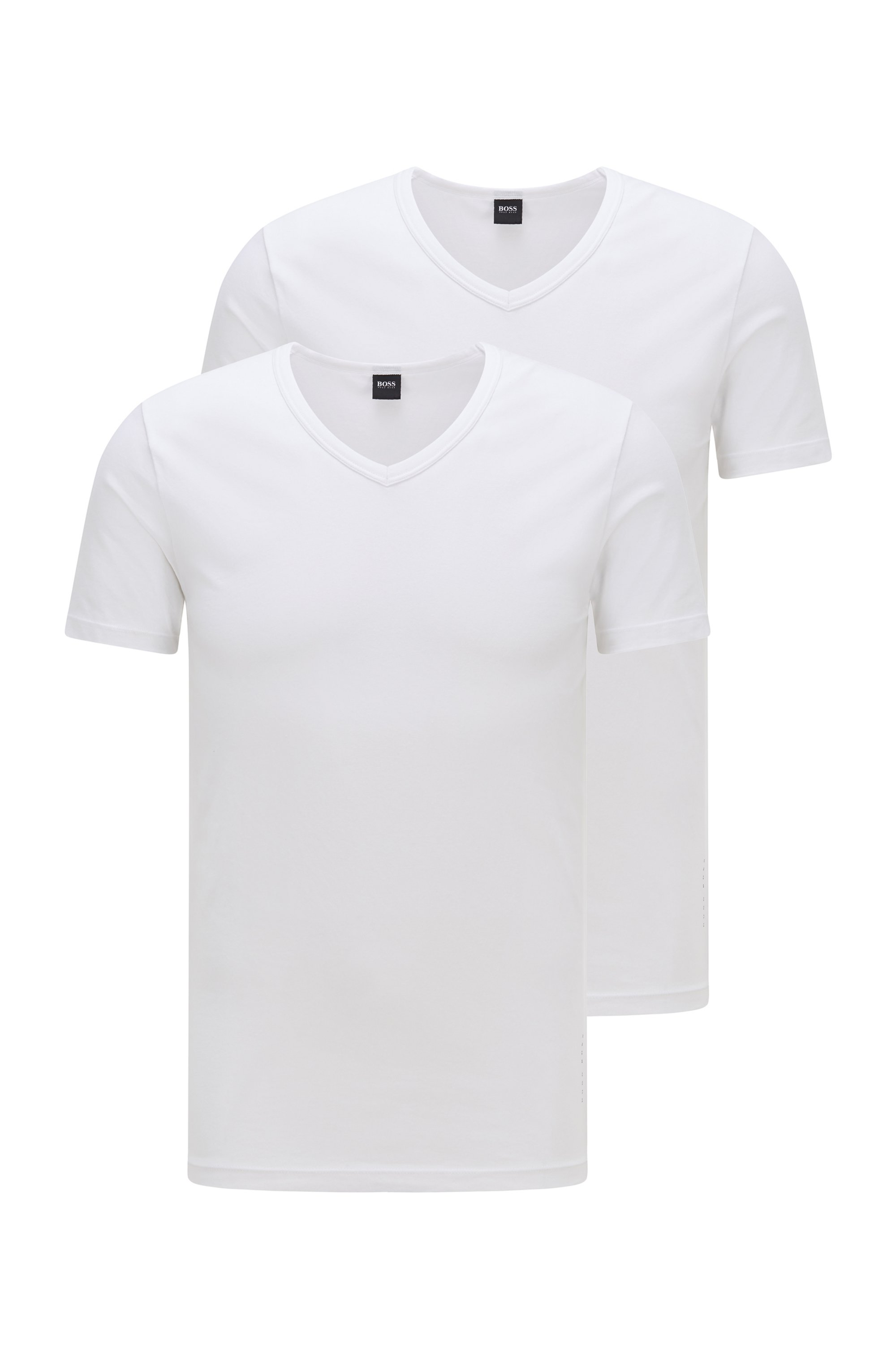 Two-pack of slim-fit underwear T-shirts, White