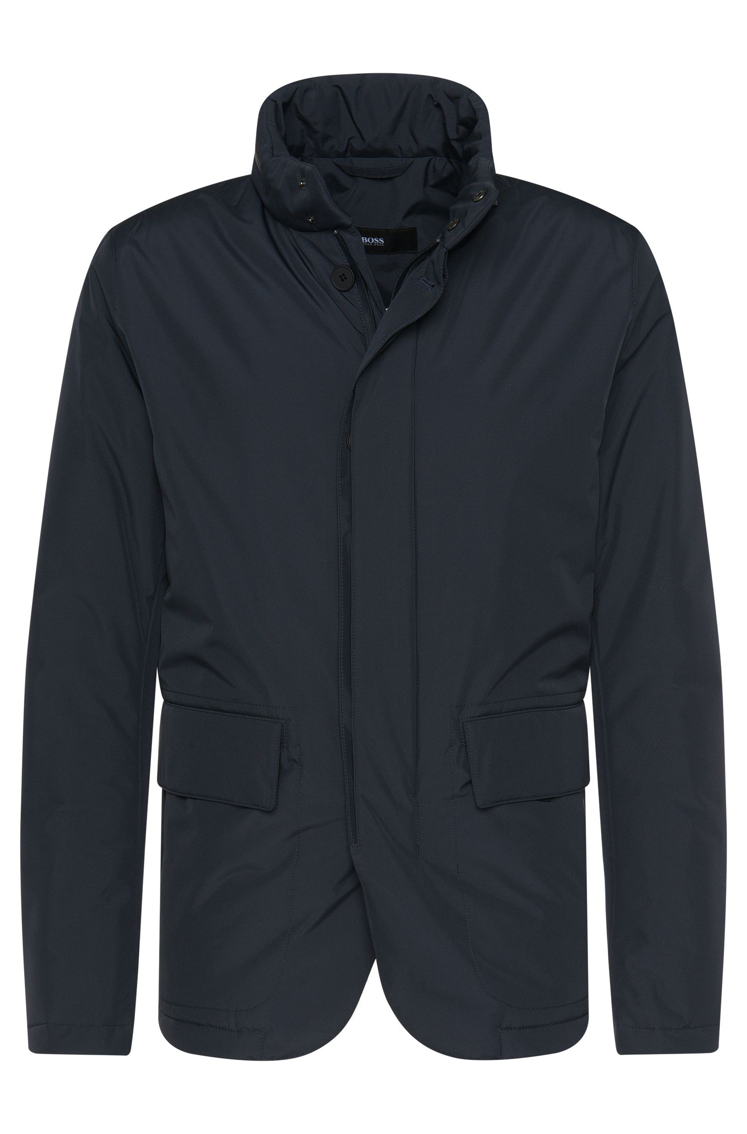 Padded jacket in a water-repellent material blend: 'Candor'