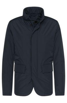 Gevoerde jas van een waterafstotende materiaalmix: 'Candor', Donkerblauw