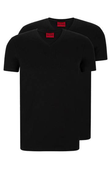 hugo  Lot de deux t-shirts à col V en coton stretch Slim fit Col V À manches... par LeGuide.com Publicité