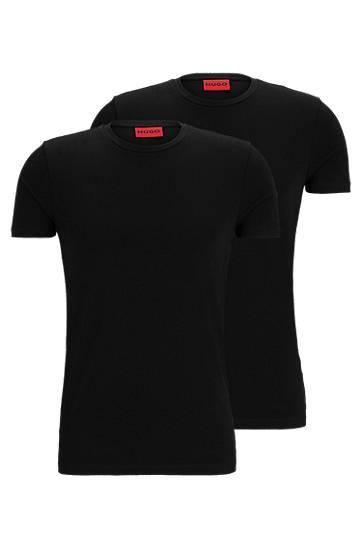 hugo  Lot de deux t-shirts HUGO Homme à col ras-du-cou en coton stretch... par LeGuide.com Publicité