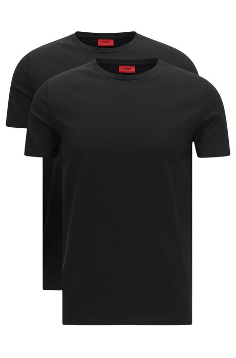 Two-pack of crew neck T-shirts in stretch cotton by HUGO Man HUGO BOSS For Nice Cheap Price ues1x