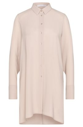 Chemisier long Relaxed Fit de style tunique : « Raspy », Beige clair