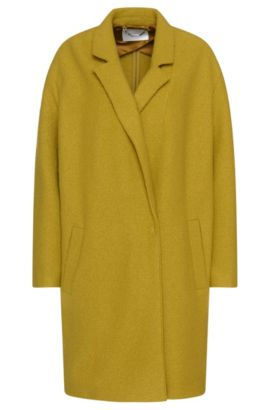 Oversized wool coat: 'Ciba', Green