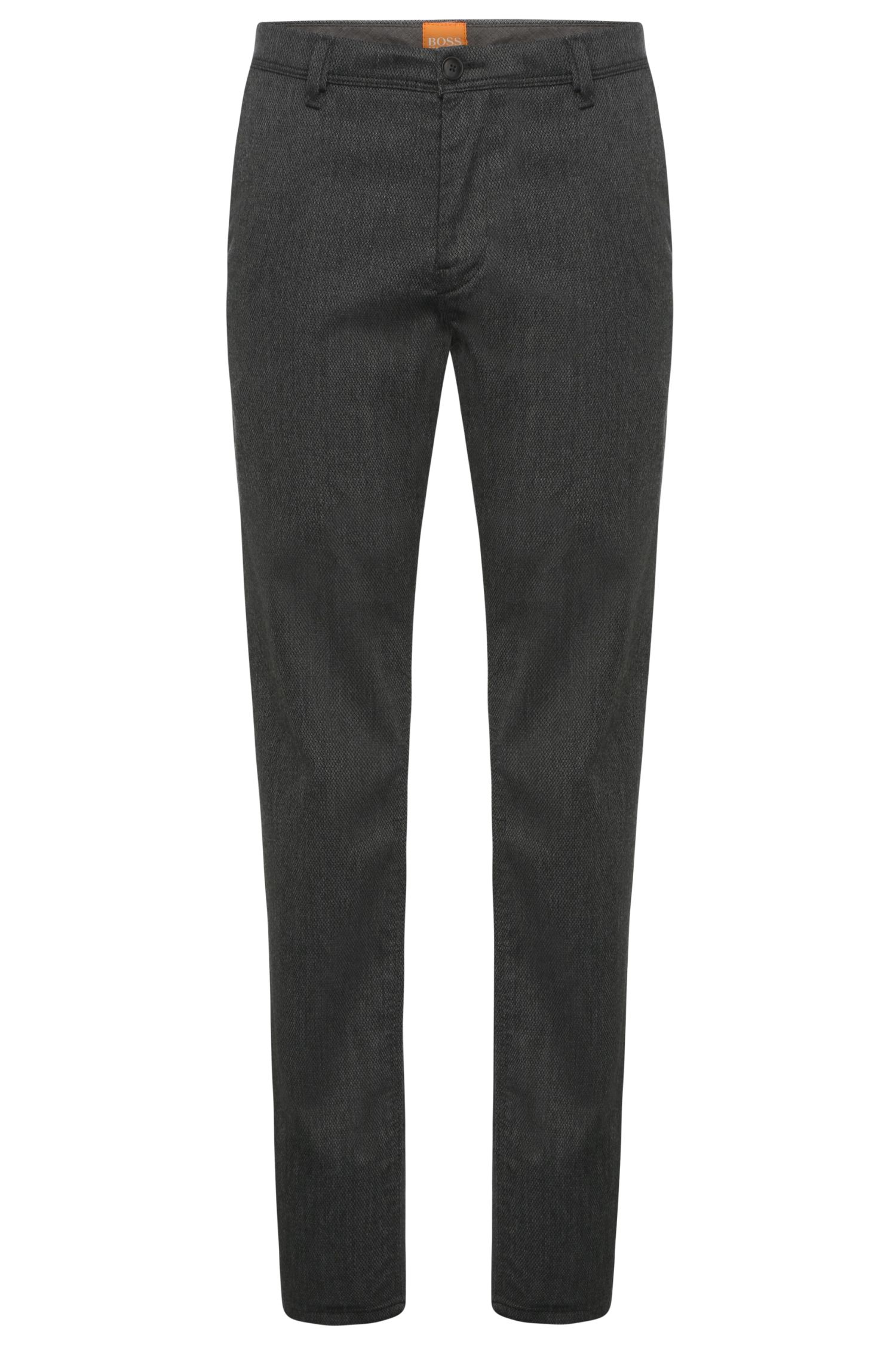 Chino slim fit in misto viscosa elasticizzato: 'Slender-W'