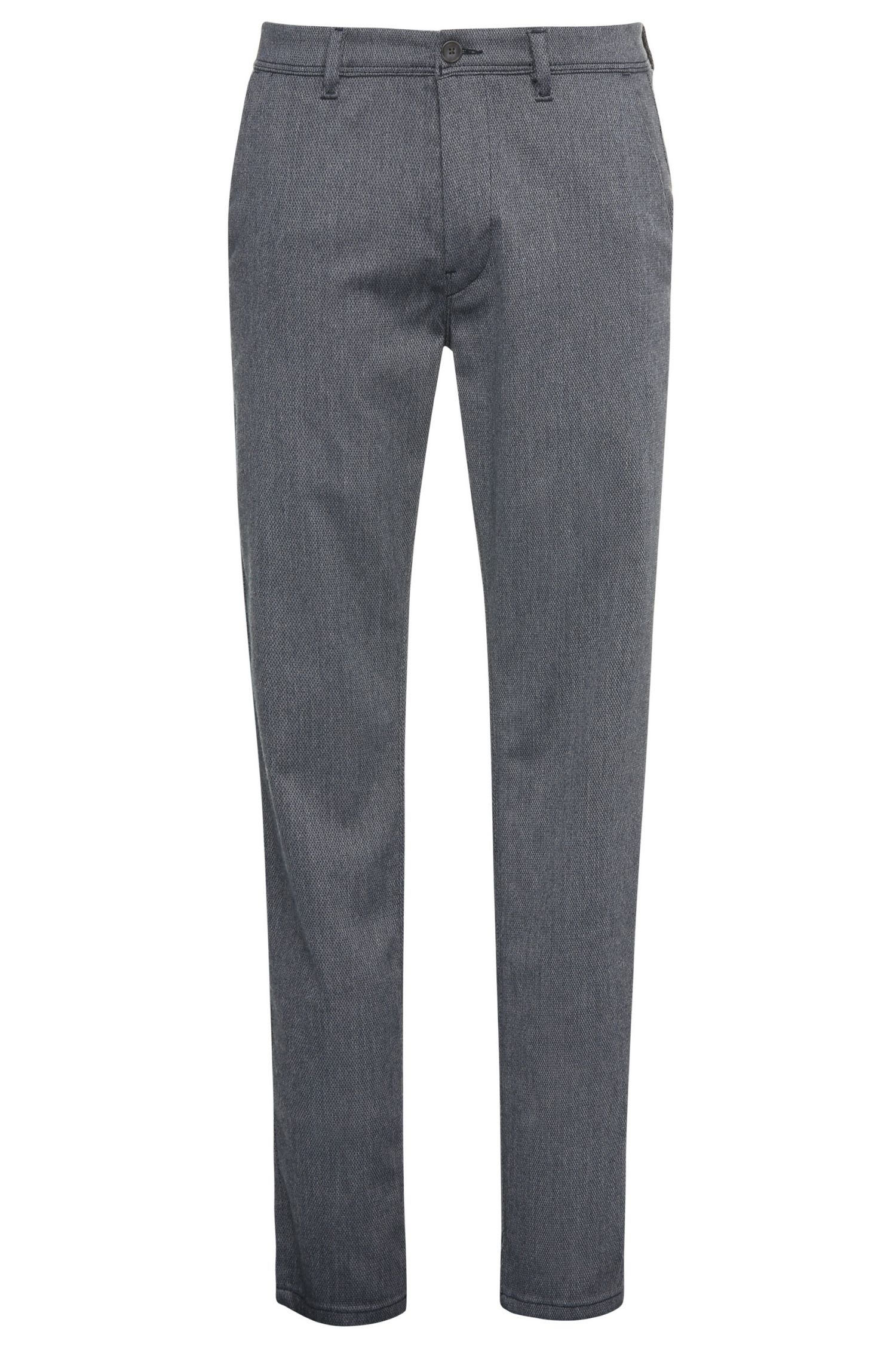 Chino Slim Fit en viscose mélangée extensible : « Slender-W »