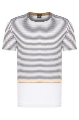 Gestreiftes Slim-Fit T-Shirt aus Baumwolle mit Farbverlauf: 'Tessler 39', Weiß