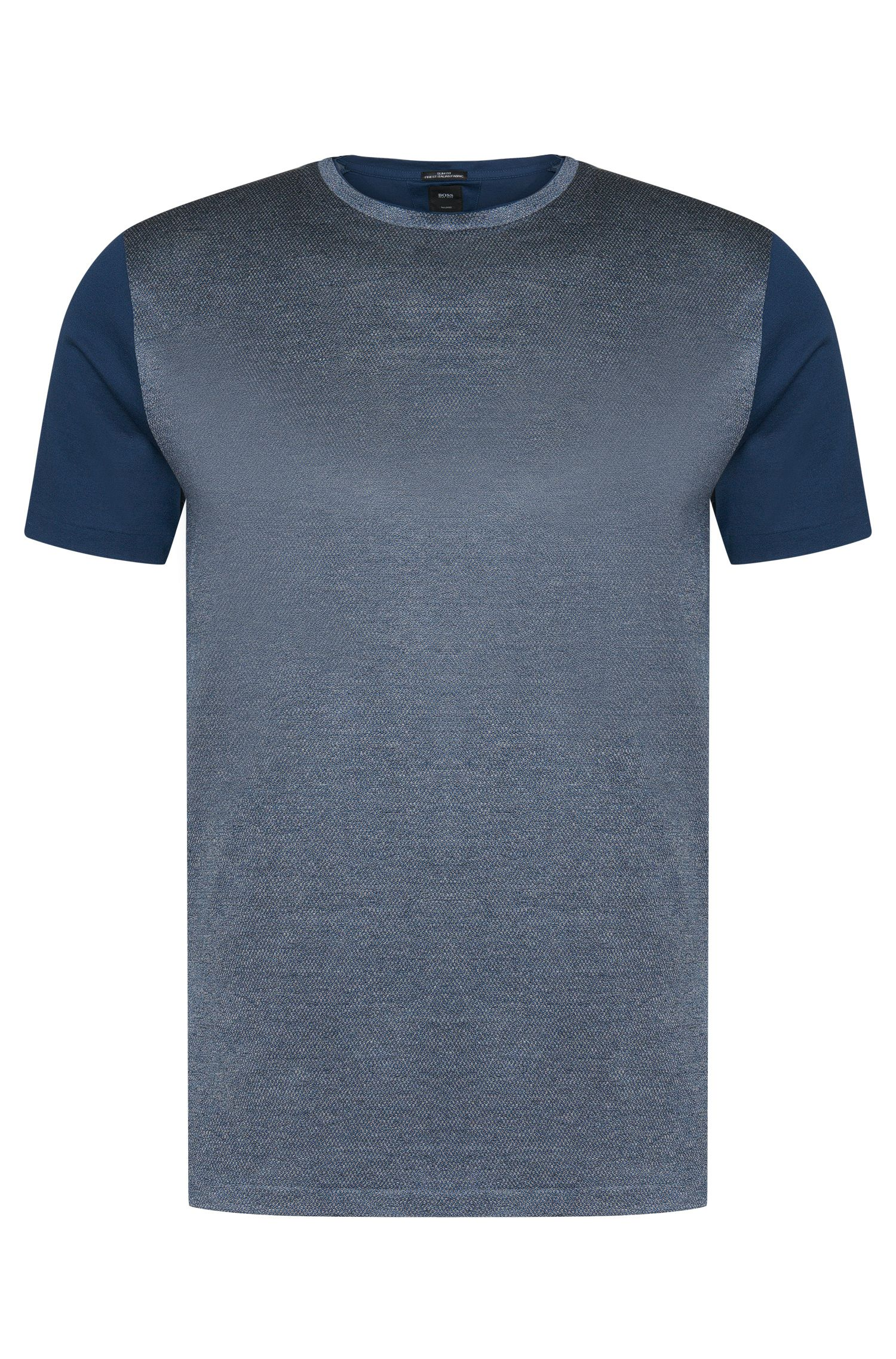 T-shirt Tailored slim fit in cotone con parte anteriore a disegni: 'T-Tribel 20'