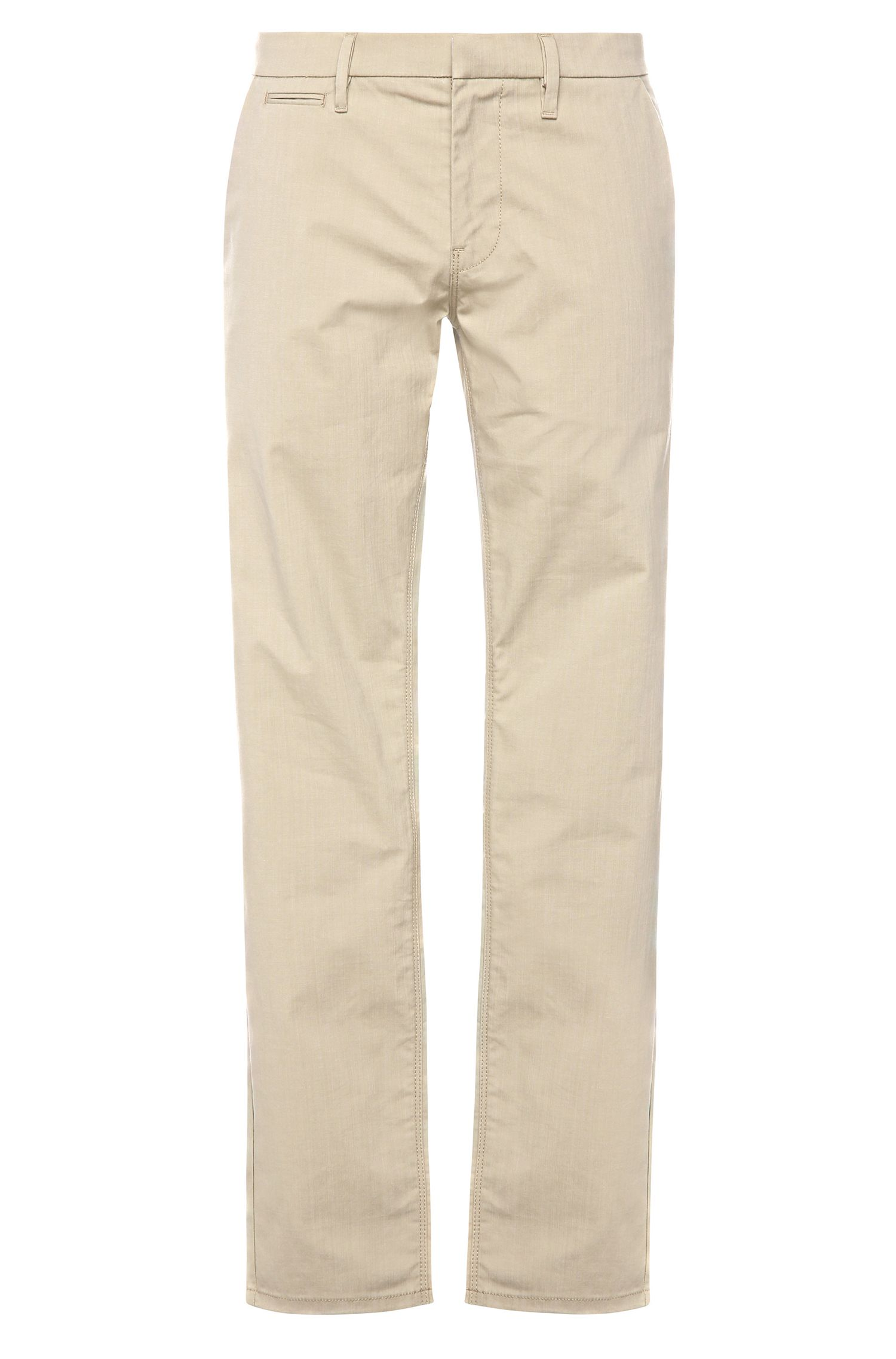 Slim-fit chinos in stretch cotton blend: 'Schino-Slim3-W'