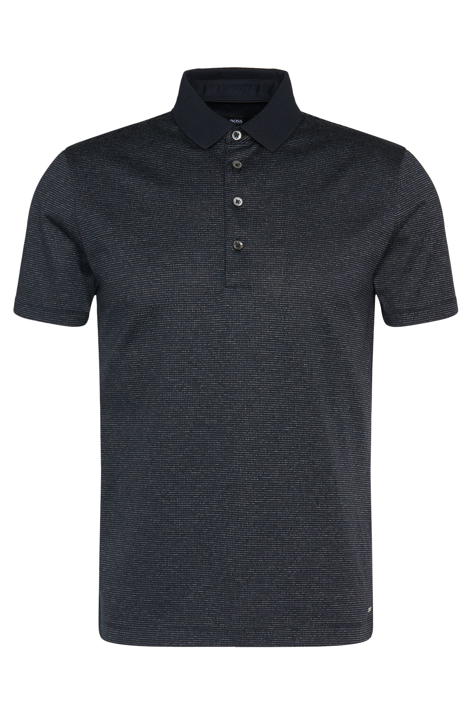 Polo Regular Fit en coton orné de lignes : « Pitton 06 »