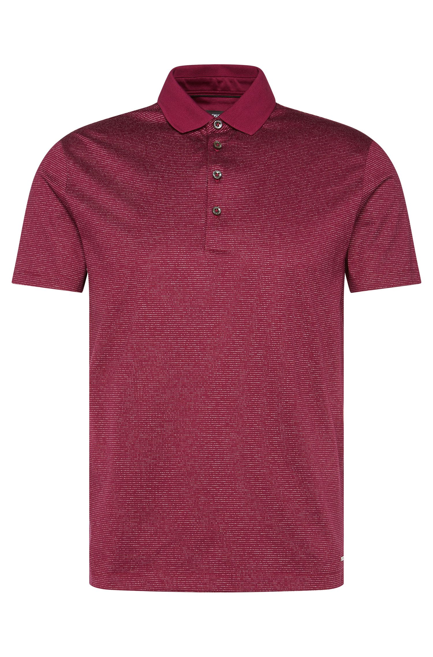 Regular-fit cotton polo shirt with lines: 'Pitton 06'