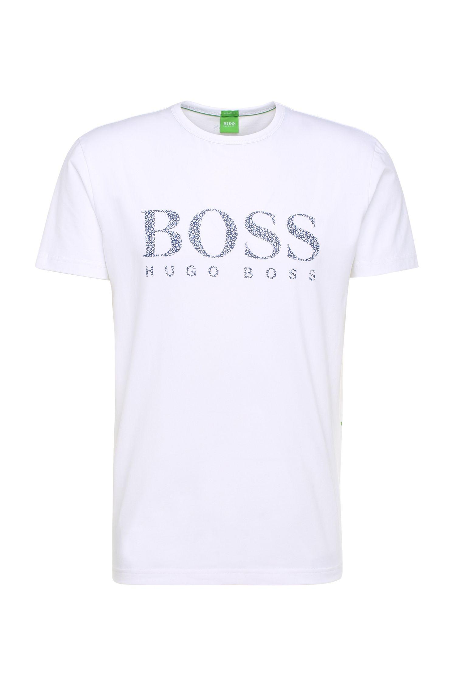 Camiseta regular fit con logo en algodón elástico: 'Tee 6'
