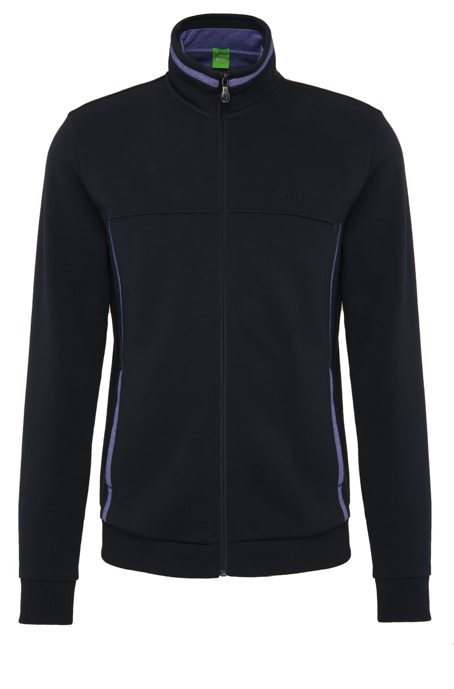 Blouson sweat Regular Fit en coton :